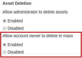 Asset Deletion