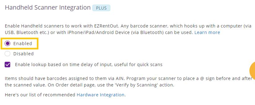 handheld scanner integration