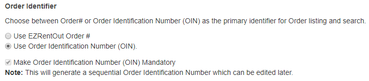 order identifier setting