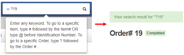 search order#