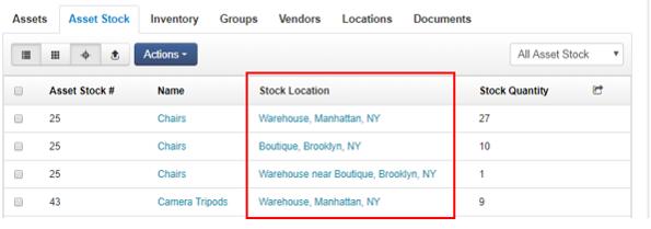stock location view