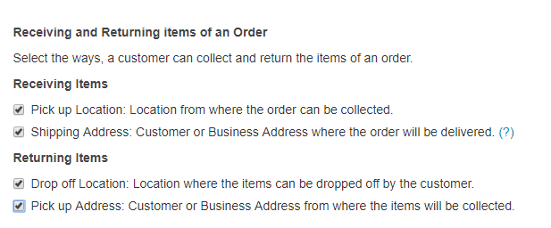 receiving and returning items
