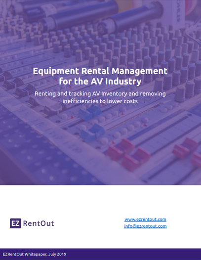 av equipment rental management